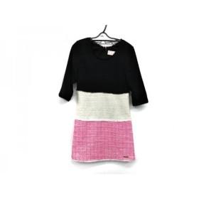 【中古】 レディ Rady ワンピース サイズF レディース 美品 黒 アイボリー ピンク ラメ