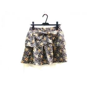 【中古】 ミッシュマッシュ MISCHMASCH スカート サイズM レディース ブラウン マルチ