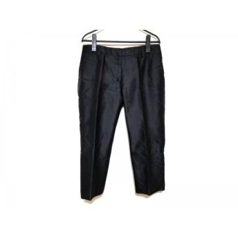 【中古】 アレキサンダーマックイーン ALEXANDER McQUEEN パンツ サイズ42 XL レディース 美品 黒 シルク