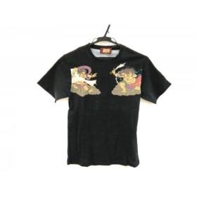 【中古】 マッシュマニア mash mania 半袖Tシャツ レディース 黒 ライトブラウン マルチ