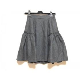 【中古】 バーバリーブルーレーベル Burberry Blue Label スカート サイズ38 M レディース ダークグレー