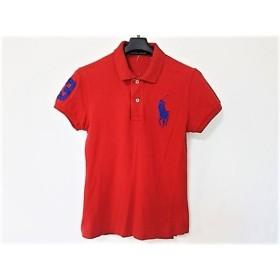 【中古】 ラルフローレン 半袖ポロシャツ サイズL L レディース ビッグポニー レッド ネイビー