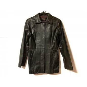 【中古】 ミッシェルクラン MICHELKLEIN コート サイズ40 M レディース 黒 レザー/冬物