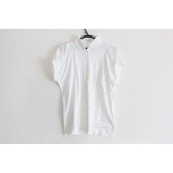 【中古】 オールドイングランド OLD ENGLAND 半袖ポロシャツ サイズ36 S レディース 白