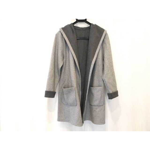【中古】 ティアクラッセ Tiaclasse コート サイズ11 M レディース 美品 グレー 春・秋物