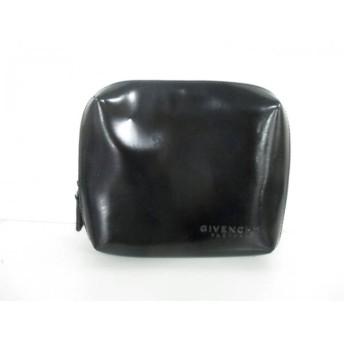 【中古】 ジバンシーパフューム GIVENCHYParfums ポーチ 美品 黒 PVC(塩化ビニール)