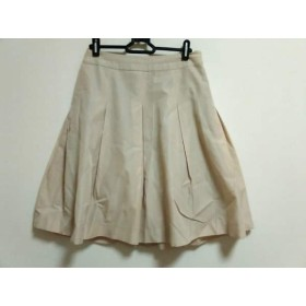 【中古】 ボディドレッシングデラックス スカート サイズ38 M レディース ベージュ ラメ/プリーツ
