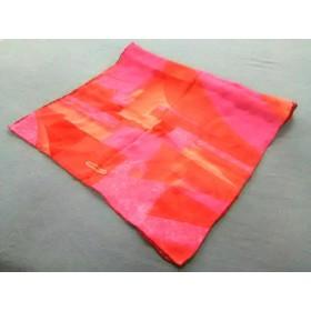 【中古】 サルバトーレフェラガモ SalvatoreFerragamo ストール(ショール) レッド ピンク シルク シルク
