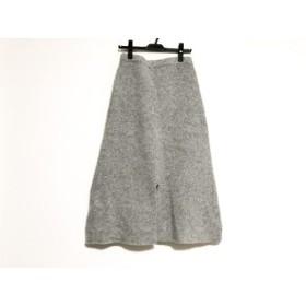 【中古】 グーコミューン GOUT COMMUN ロングスカート サイズ38 M レディース グレー ニット/ウエストゴム