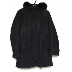【中古】 アイシービー ICB ダウンコート サイズ44 L レディース 黒 冬物/ファー