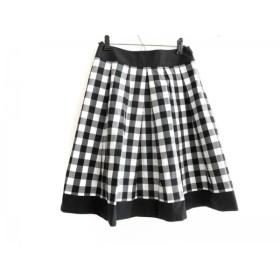【中古】 ナラカミーチェ NARACAMICIE スカート サイズ1 S レディース 黒 白 チェック柄