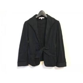 【中古】 アルマアンローズ ALMA EN ROSE ジャケット サイズ1 S レディース 黒 リボン/ギャザー