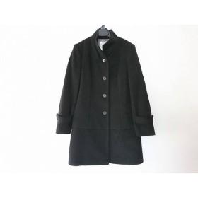 【中古】 ジェイプレス J.PRESS コート サイズ9 M レディース 黒 肩パッド/冬物