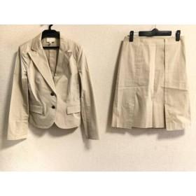 【中古】 ナチュラルビューティー NATURAL BEAUTY スカートスーツ サイズM レディース ベージュ