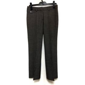 【中古】 オールドイングランド OLD ENGLAND パンツ サイズ38 M レディース ダークブラウン アイボリー