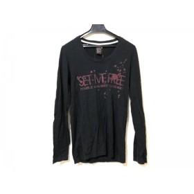 【中古】 ダブルスタンダードクロージング 長袖Tシャツ サイズF レディース 黒 レッド