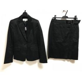 【中古】 ヴァンドゥ オクトーブル 22OCTOBRE スカートスーツ サイズ38 M レディース 黒 白 ストライプ