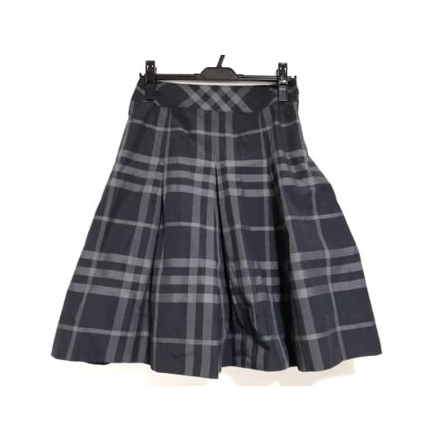 【中古】 バーバリーロンドン Burberry LONDON スカート サイズ36 M レディース 黒 グレー チェック柄