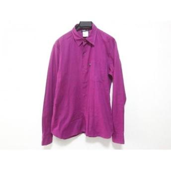 【中古】 アニエスベー agnes b 長袖シャツ サイズ38 S メンズ パープル homme