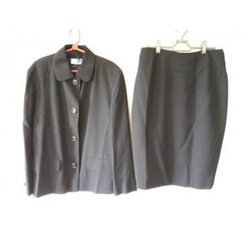 【中古】 アクリス AKRIS スカートスーツ サイズ38 L レディース 黒