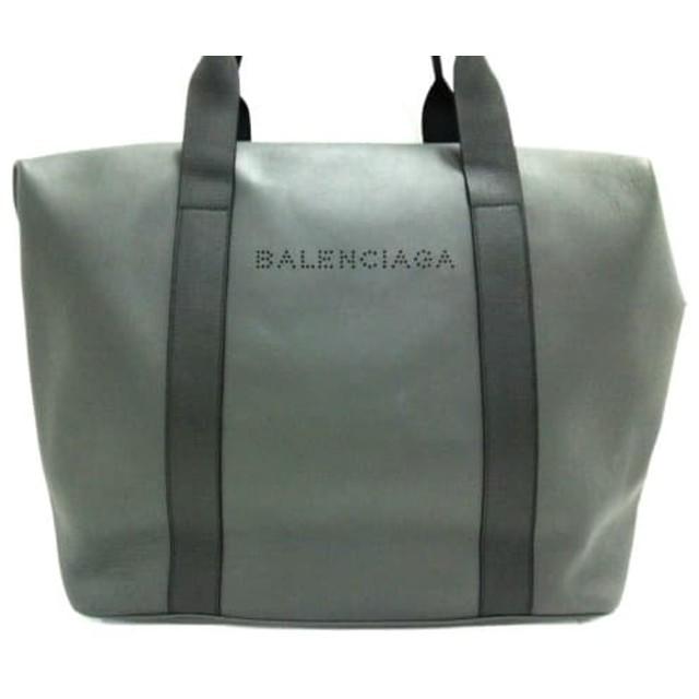 【中古】 バレンシアガ BALENCIAGA ボストンバッグ 美品 - 433672 ダークブラウン パンチング レザー
