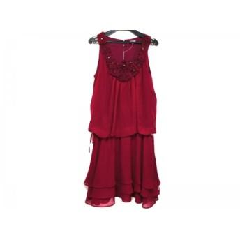 【中古】 レストローズ L'EST ROSE ドレス サイズMT レディース ボルドー フラワー