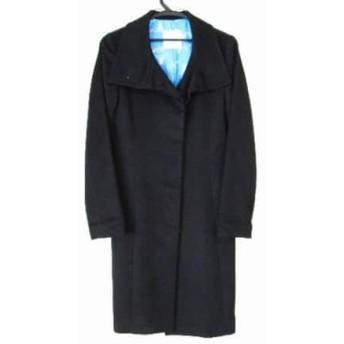 【中古】 ランバンオンブルー LANVIN en Bleu コート サイズ34 S レディース 黒 冬物