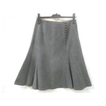 【中古】 エフデ ef-de スカート サイズ9 M レディース グレー