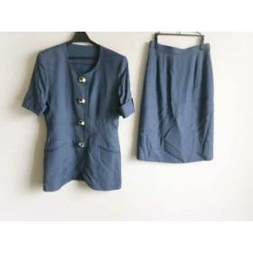 【中古】 ギンザマギー MAGGY スカートスーツ サイズ9 M レディース ブルー 肩パッド