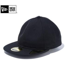 【メーカー取次】 NEW ERA ニューエラ Basic Retro Crown 59FIFTY ベーシック フラッグロゴ ブラックXブラックロゴ 12018904 キャップ メンズ 帽子 無地