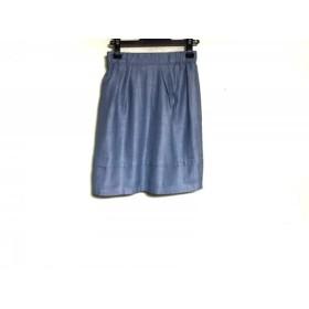 【中古】 ジャスグリッティー JUSGLITTY スカート サイズ1 S レディース ライトブルー アイボリー
