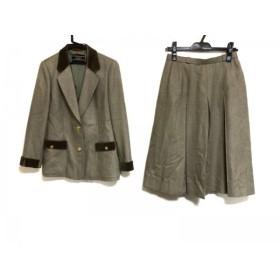 【中古】 レリアン Leilian スカートスーツ サイズ11 M レディース ブラウン ダークブラウン PIACENZA
