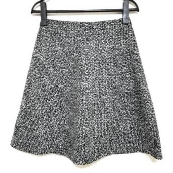 【中古】 ニジュウサンク 23区 スカート サイズ32 XS レディース 黒 白