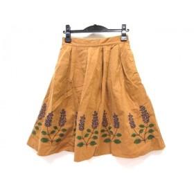 【中古】 ノーブランド スカート サイズM レディース ブラウン マルチ