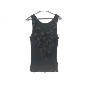 【中古】 ミュベール MUVEIL ノースリーブセーター サイズ38 M レディース 美品 黒