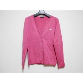 【中古】 ポールスミスブラック PaulSmith BLACK カーディガン サイズL レディース 美品 ピンク 刺繍