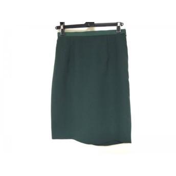【中古】 ジャスグリッティー JUSGLITTY スカート サイズ1 S レディース ダークグリーン
