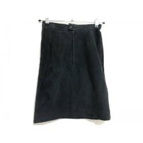 【中古】 ロエベ LOEWE スカート レディース 黒