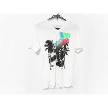 【中古】 ディーゼル DIESEL 半袖Tシャツ サイズS メンズ 白 マルチ