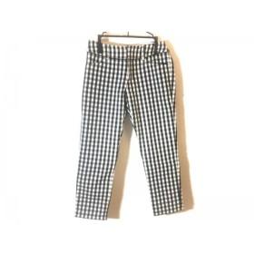 【中古】 アプワイザーリッシェ パンツ サイズ0 XS レディース 黒 白 ライトグレー チェック柄