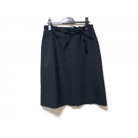 【中古】 フィロディセタ Filo di Seta スカート サイズ40 M レディース 黒