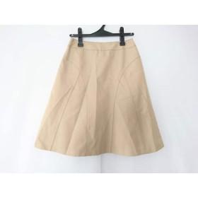 【中古】 ヒロコビス HIROKO BIS スカート サイズ9 M レディース ベージュ