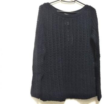 【中古】 クルチアーニ Cruciani 長袖セーター サイズ42 L レディース 新品同様 ネイビー