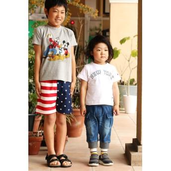 パンツ・ズボン全般 - Noa Department Store カットデニムジョガー6分丈パンツ(80cm 90cm 100cm 110cm 120cm 130cm 140cm)