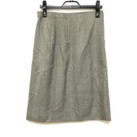 【中古】 アクリス AKRIS スカート サイズ8 M レディース 美品 グレー