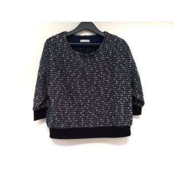 【中古】 エージーバイアクアガール AG by aquagirl 七分袖セーター サイズW レディース ネイビー 白