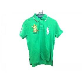 【中古】 ポロラルフローレン 半袖ポロシャツ サイズS メンズ 美品 ビッグポニー グリーン 白 マルチ