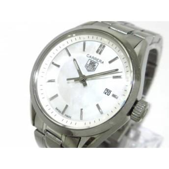 【中古】 タグホイヤー 腕時計 カレラ WV1415/WV1415. BA0793 レディース SS/シェル文字盤 ホワイトシェル