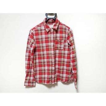 【中古】 ロデオクラウンズ 長袖シャツ サイズ2 M メンズ レッド グレー マルチ チェック柄 コットン