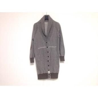 【中古】 キャピタル KAPITAL コート サイズXS レディース 黒 白 ヘリンボーン/春・秋物